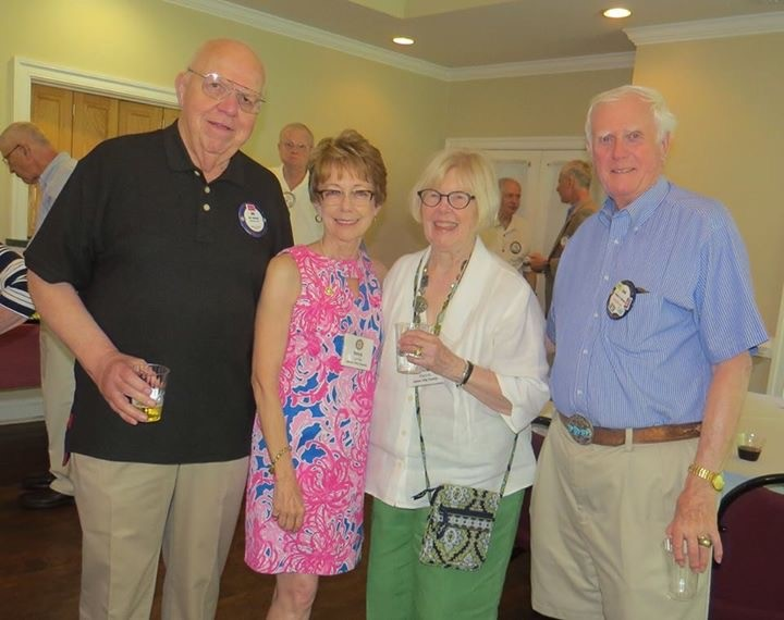 Change of leadership party - Jim, Neva, Anne and Dan enjoy fellowship at the Kingsmill Recreation Center.