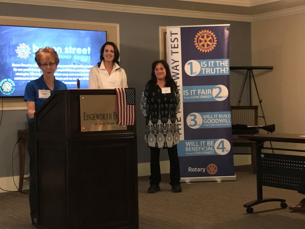 newest members - Elisabeth Reiss and Teresa Gray joined the Satellite Club on 13 March 2019, bringing Club membership to 14 Rotarians. Elisabeth leads the Military Outreach Program at Colonial Williamsburg. Teresa is a realtor at Long and Foster.