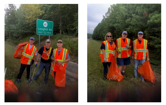 JCC Rotarians were busy cleaning up along Rt 199 between Monticello and Longhill.