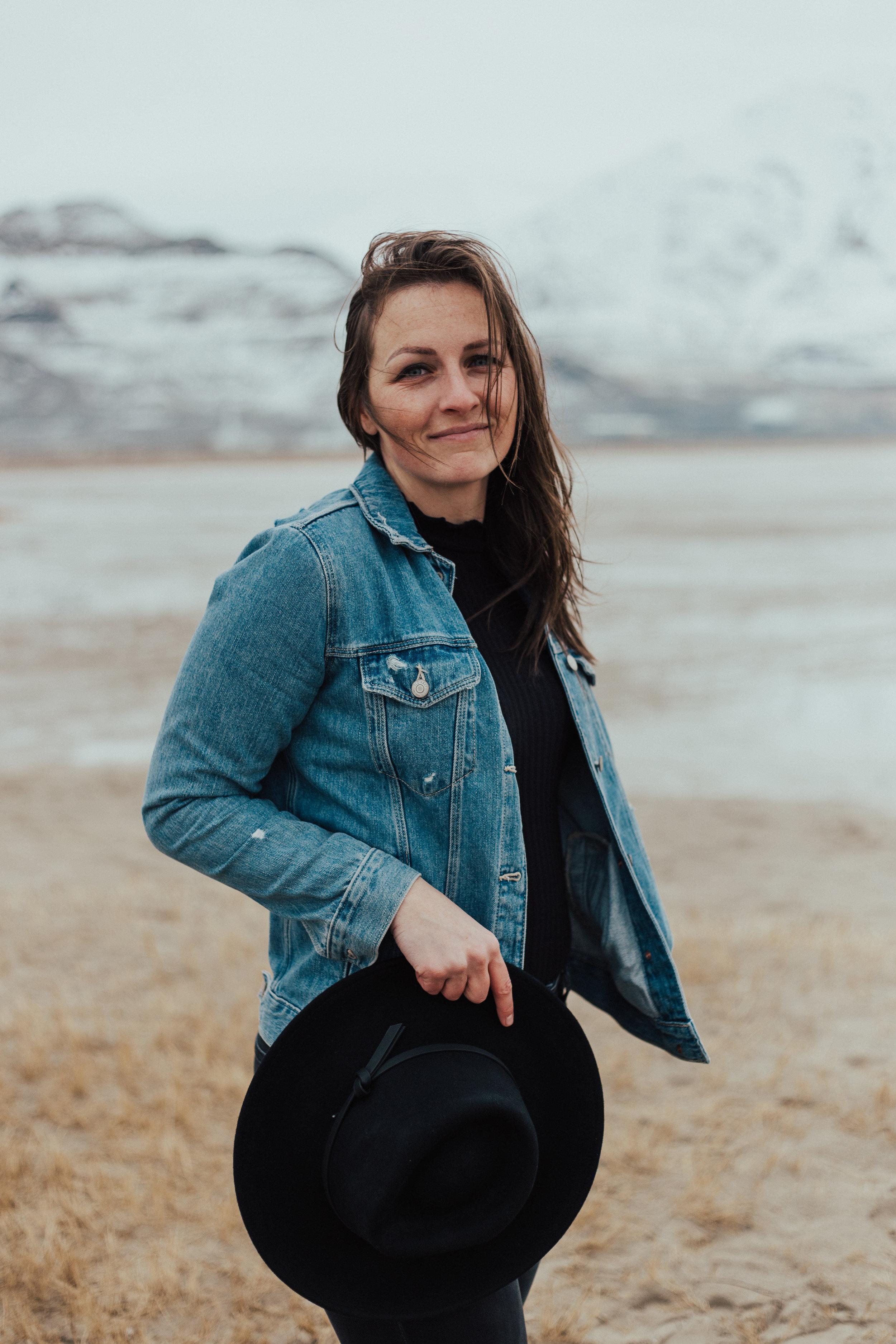 Windy hair portrait session Utah photographer