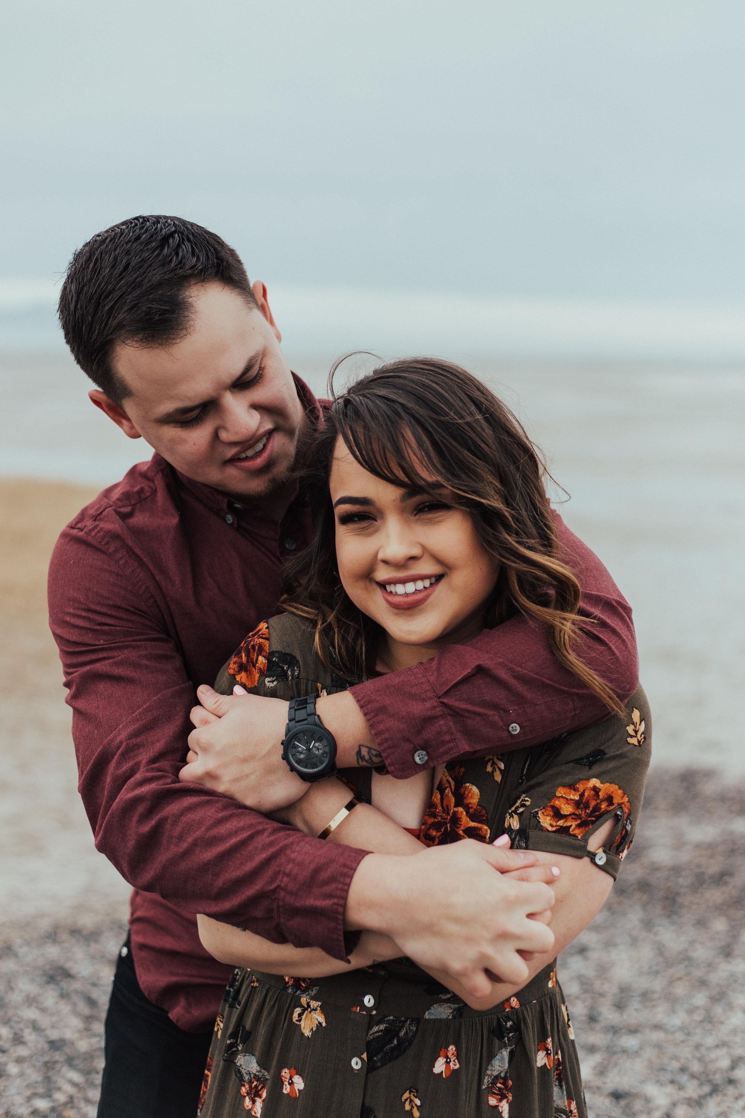 Beach engagement photos Utah photographer romantic couple