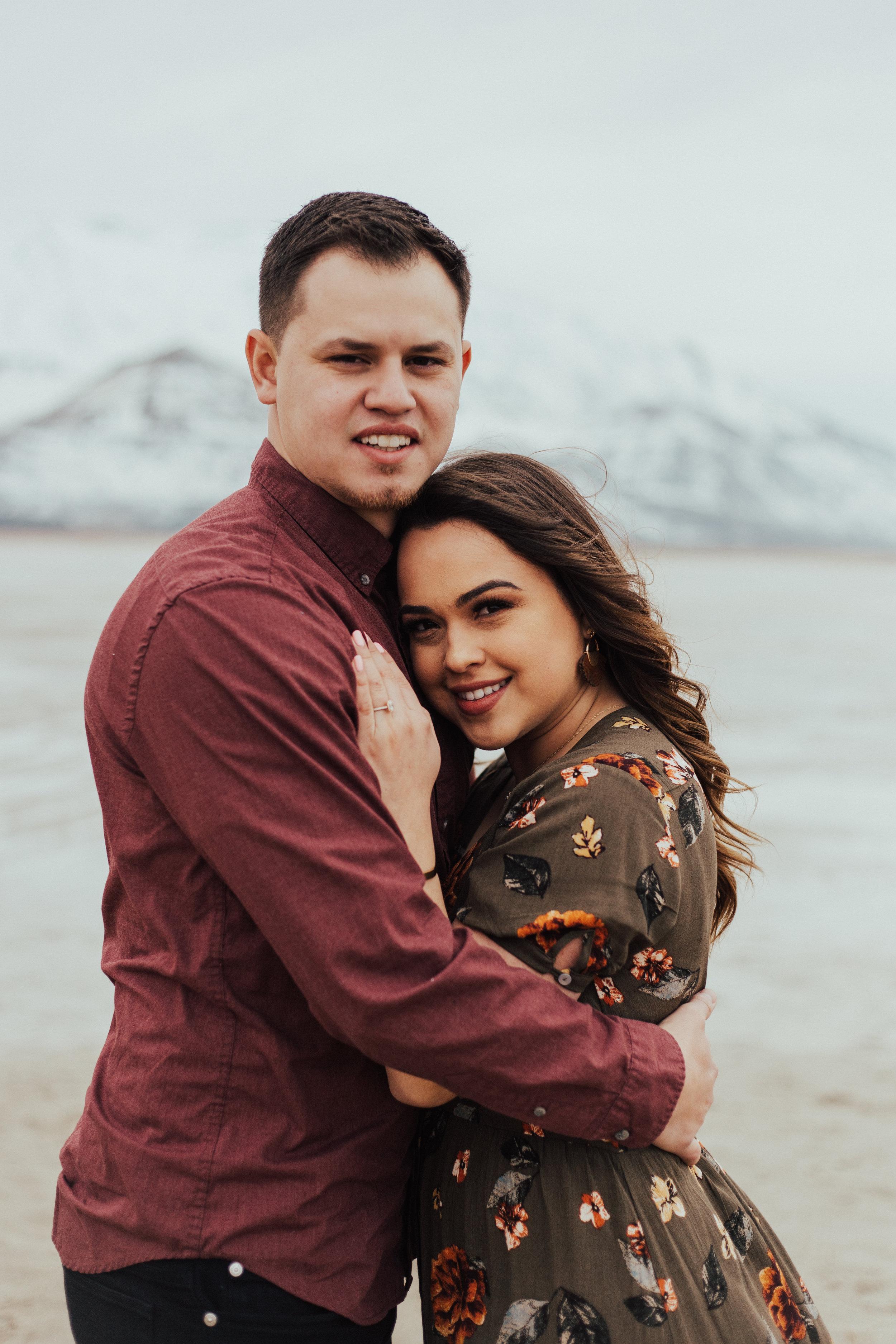 Romantic couple engagement photos Utah photographer