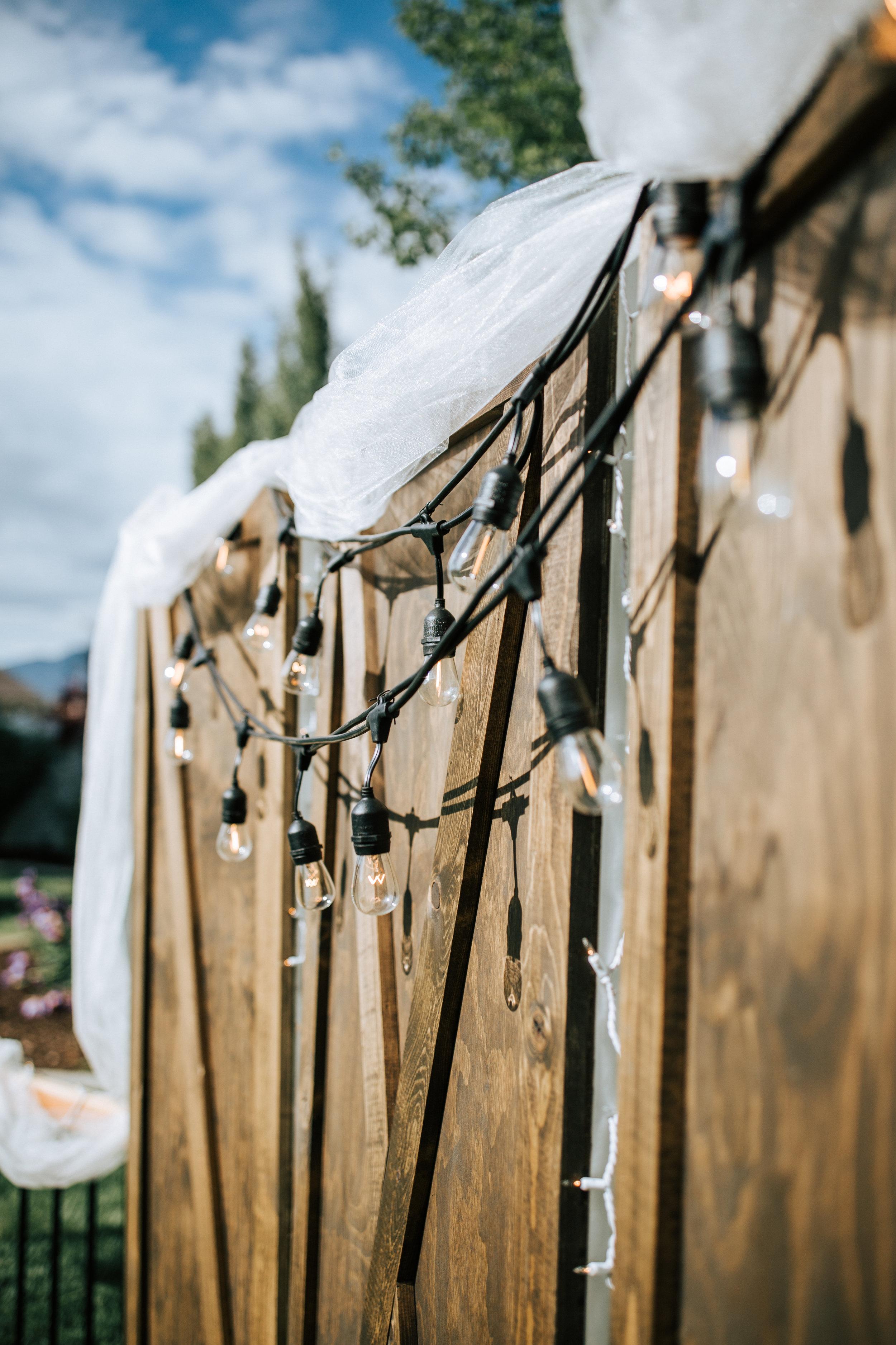Wedding backdrop Utah wedding photographer