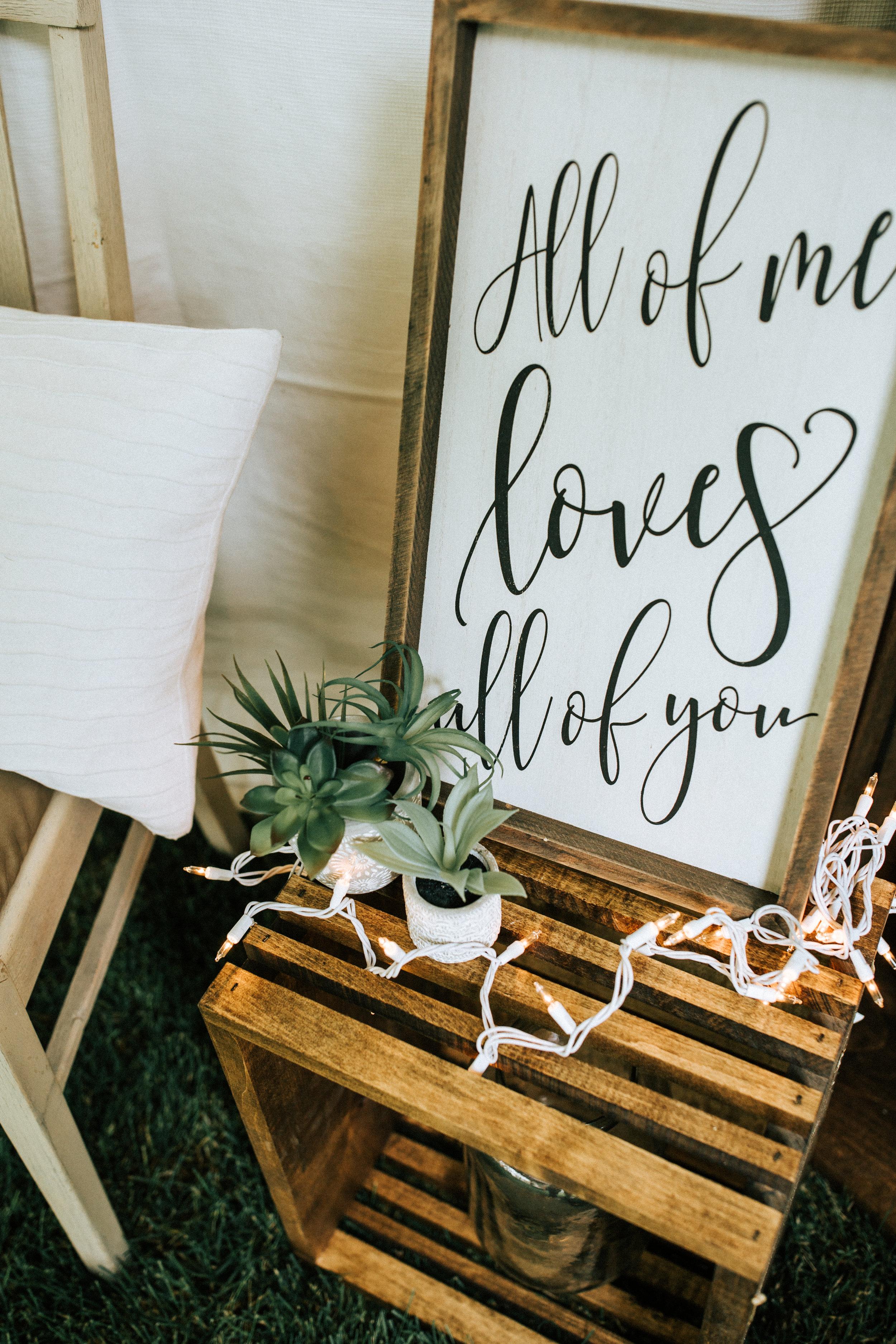 Utah wedding photographer lights quotes decorations