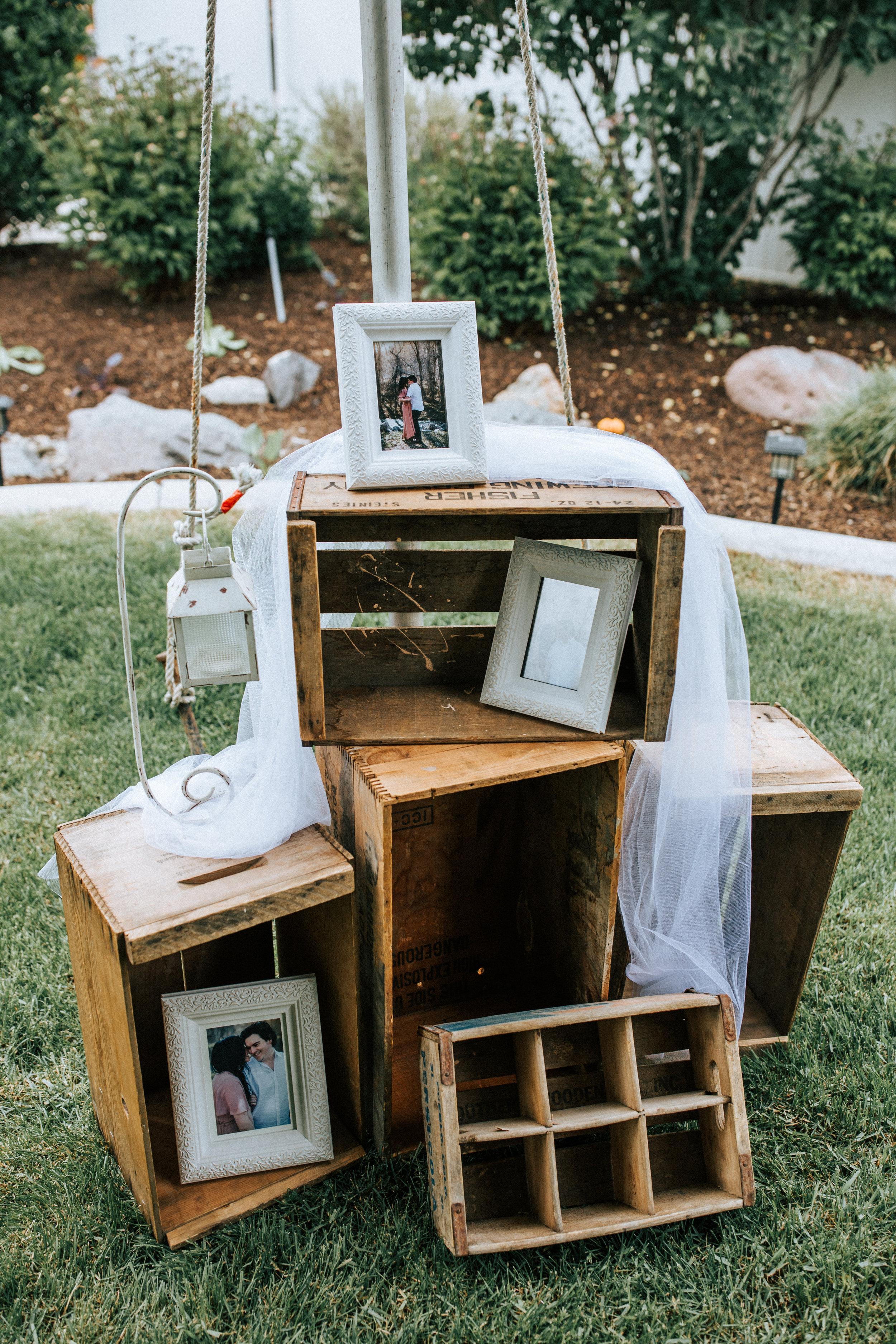 Utah wedding photographer decorations