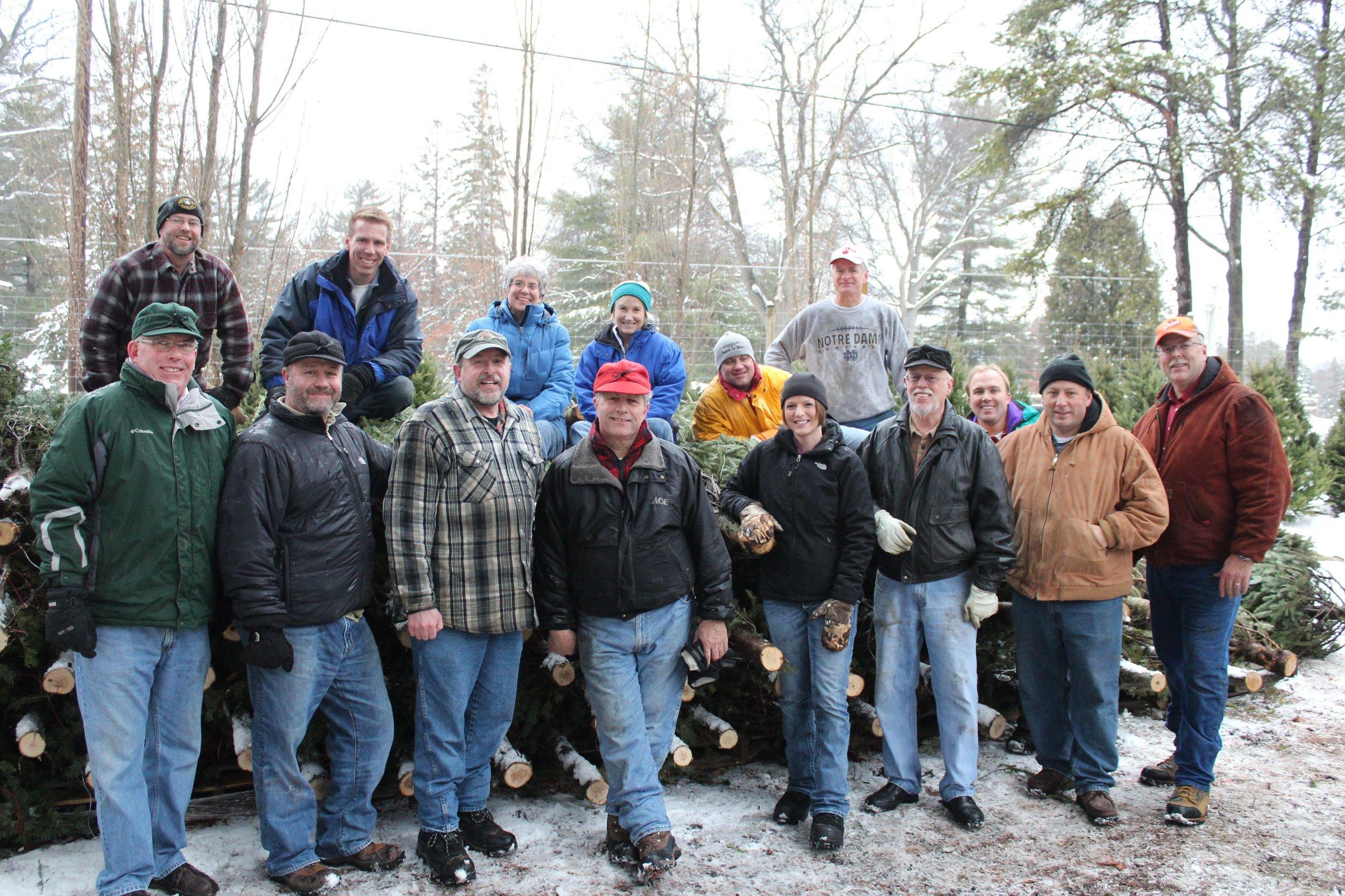 Lakeland (Minocqua) Noon Rotary Christmas Tree, Wreath & Roping sale