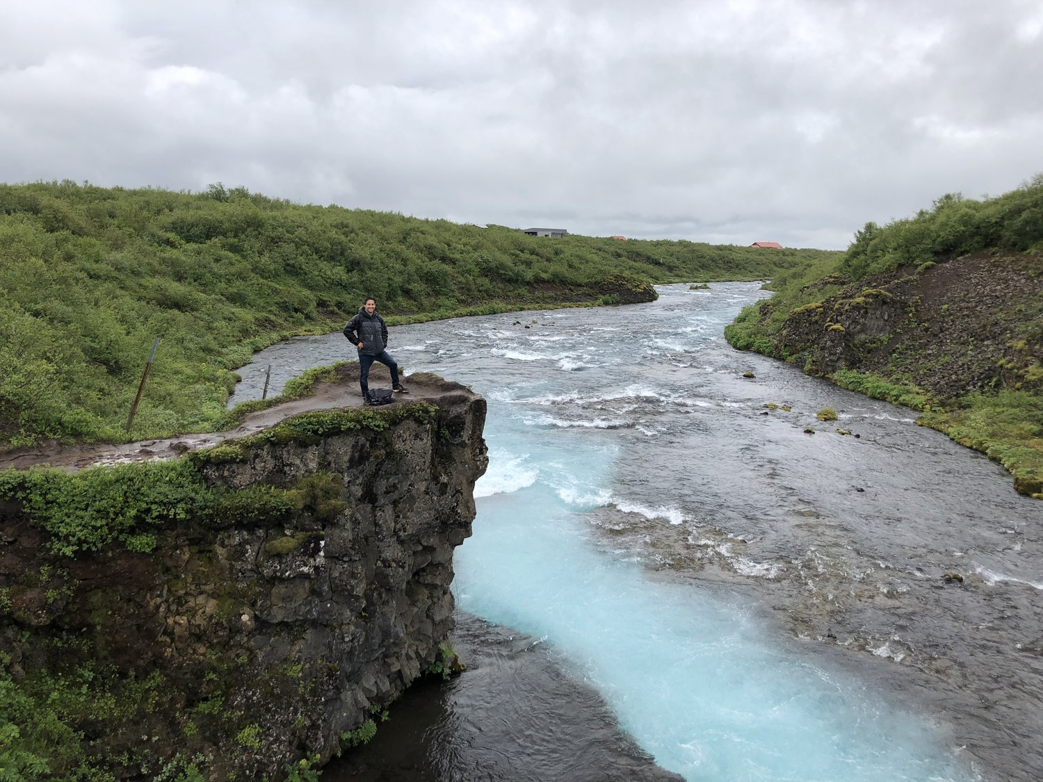 This is me seeing a landscape. Some of the water is clearer than the rest, and one can travel through these complicated waters if one is careful. See what I did there? So clever. (This picture funded by Iceland's Department of Tourism). (Not really).