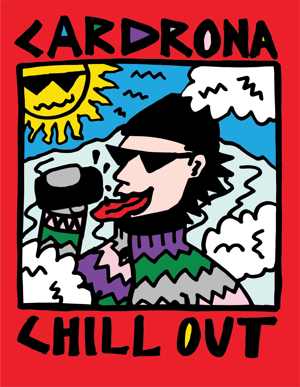 'Crack a Cold One' sticker design for Cardrona Alpine Resort, NZ