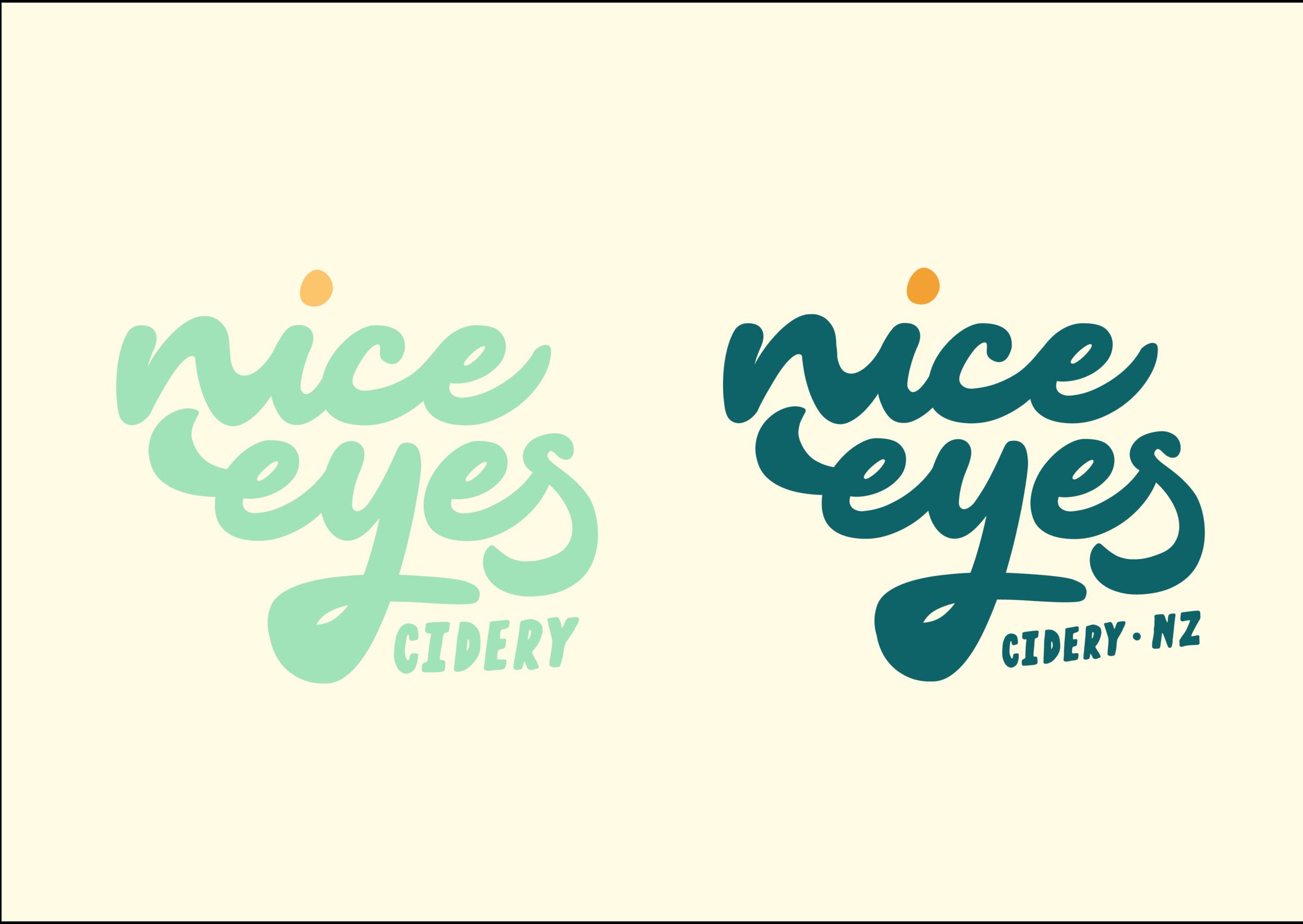Branding for Nice Eyes Cidery, Wanaka, NZ