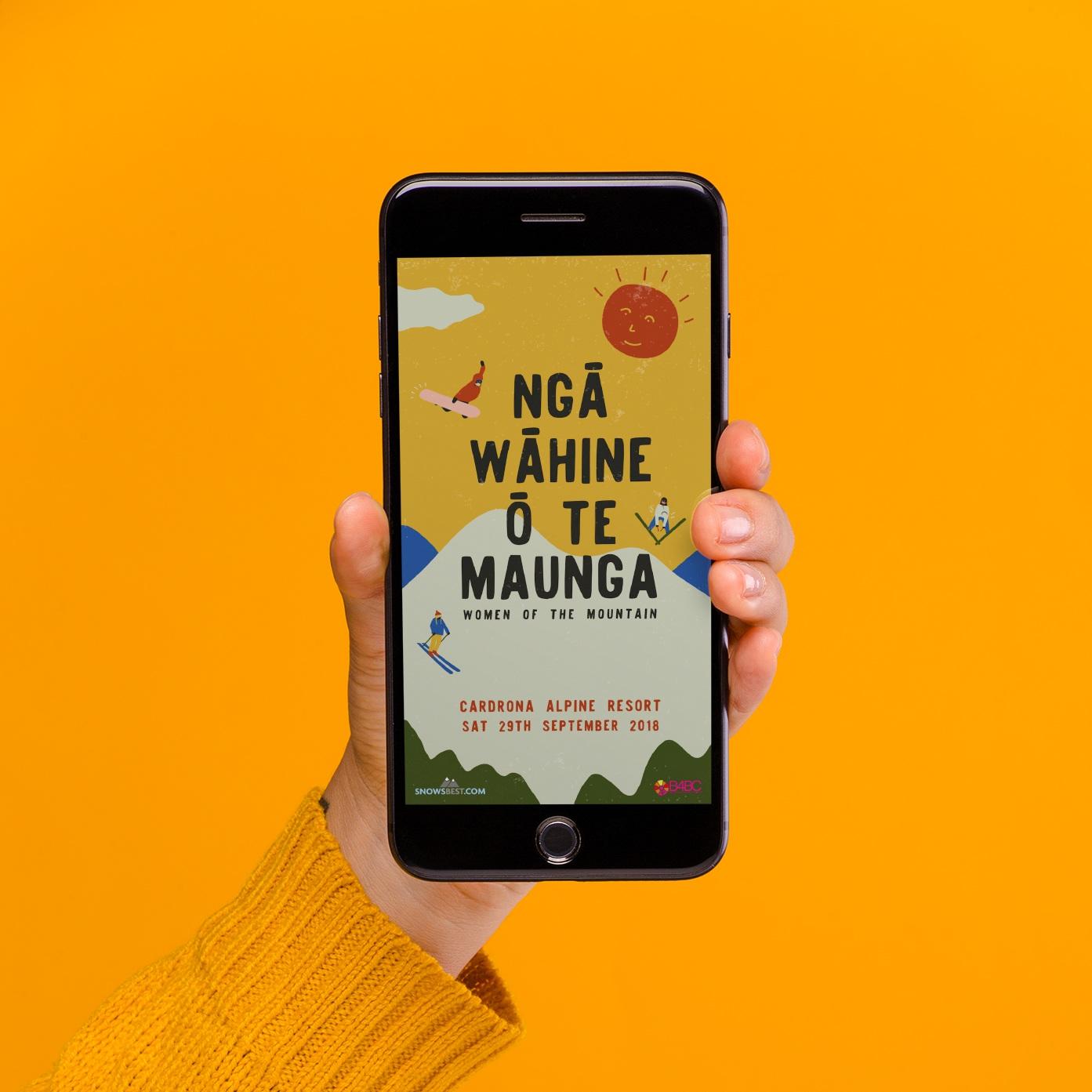 Instagram advertisement for Nga Wahine o te Maunga