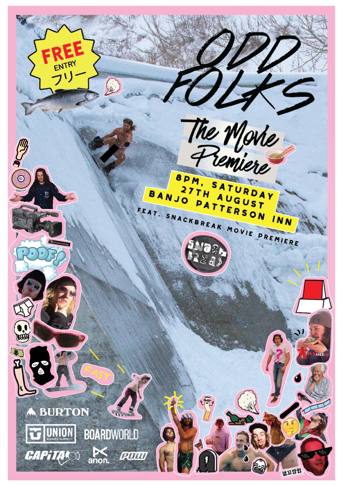 Poster design for Odd Folks, Australia