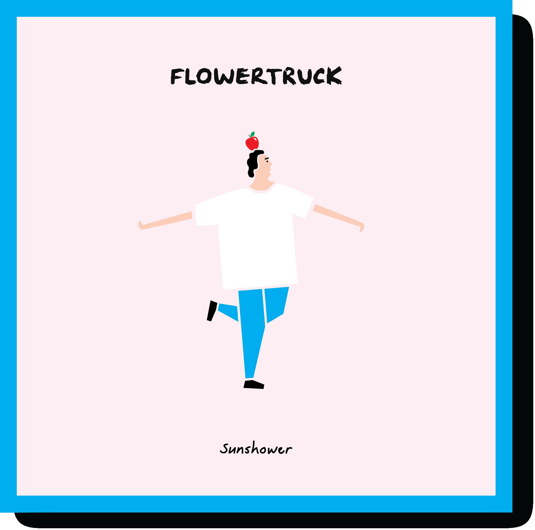 Flowertruck 'Sunshower' single cover design