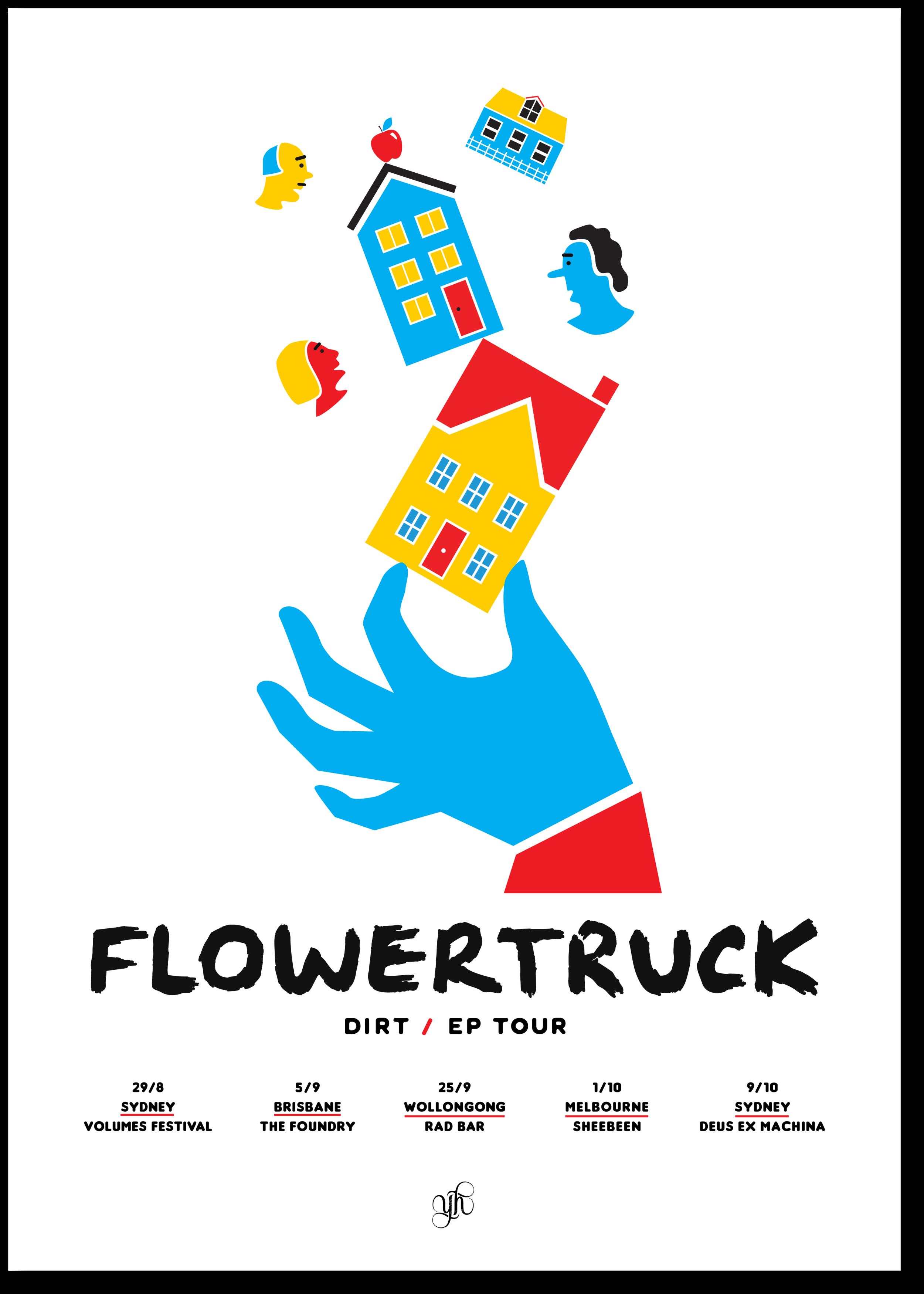 Flowertruck 'Dirt' EP Tour Poster