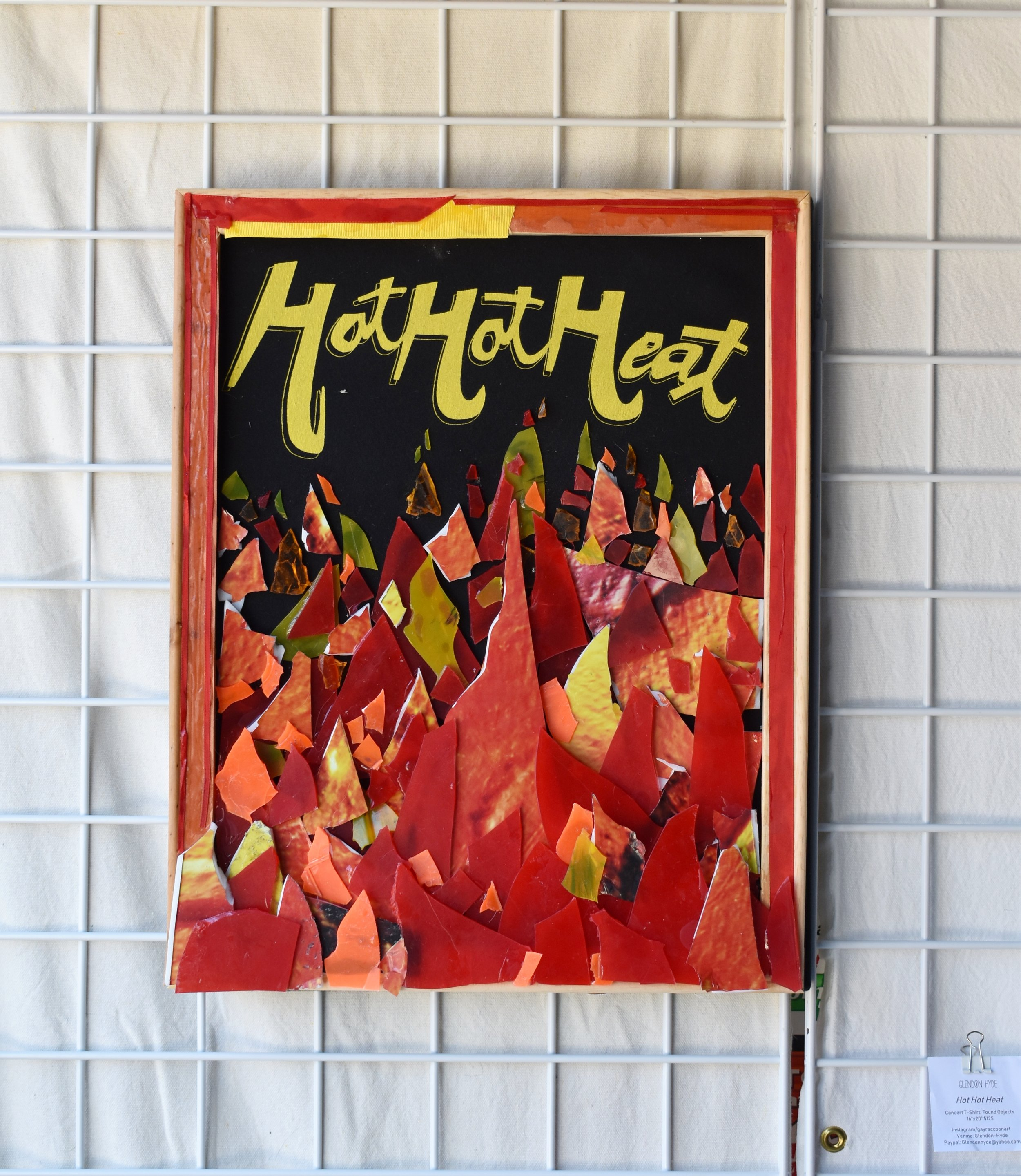 "glendon hyde - Hot Hot HeatConcert T-Shirt, Found Objects16""x20"" $125Instagram"