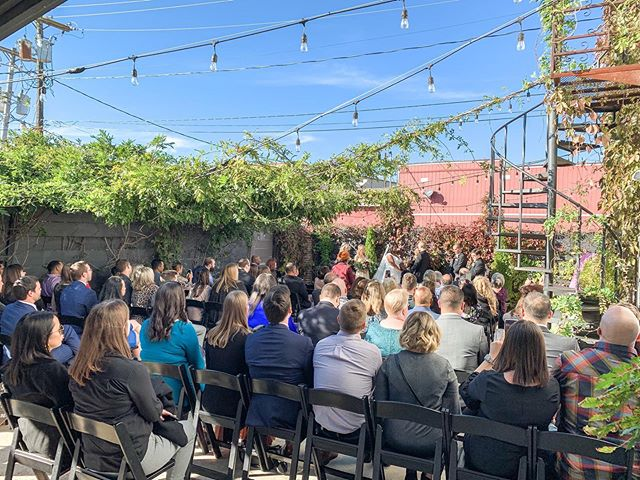 Angela + Adam tied the knot yesterday at @fairlanestation. We've had an amazing year planning and it showed! The wedding was beautiful, food was delicious, music was on point and guests were so much fun to be around! Cheers to a lifetime of happiness! #wilkinsyoumarryme