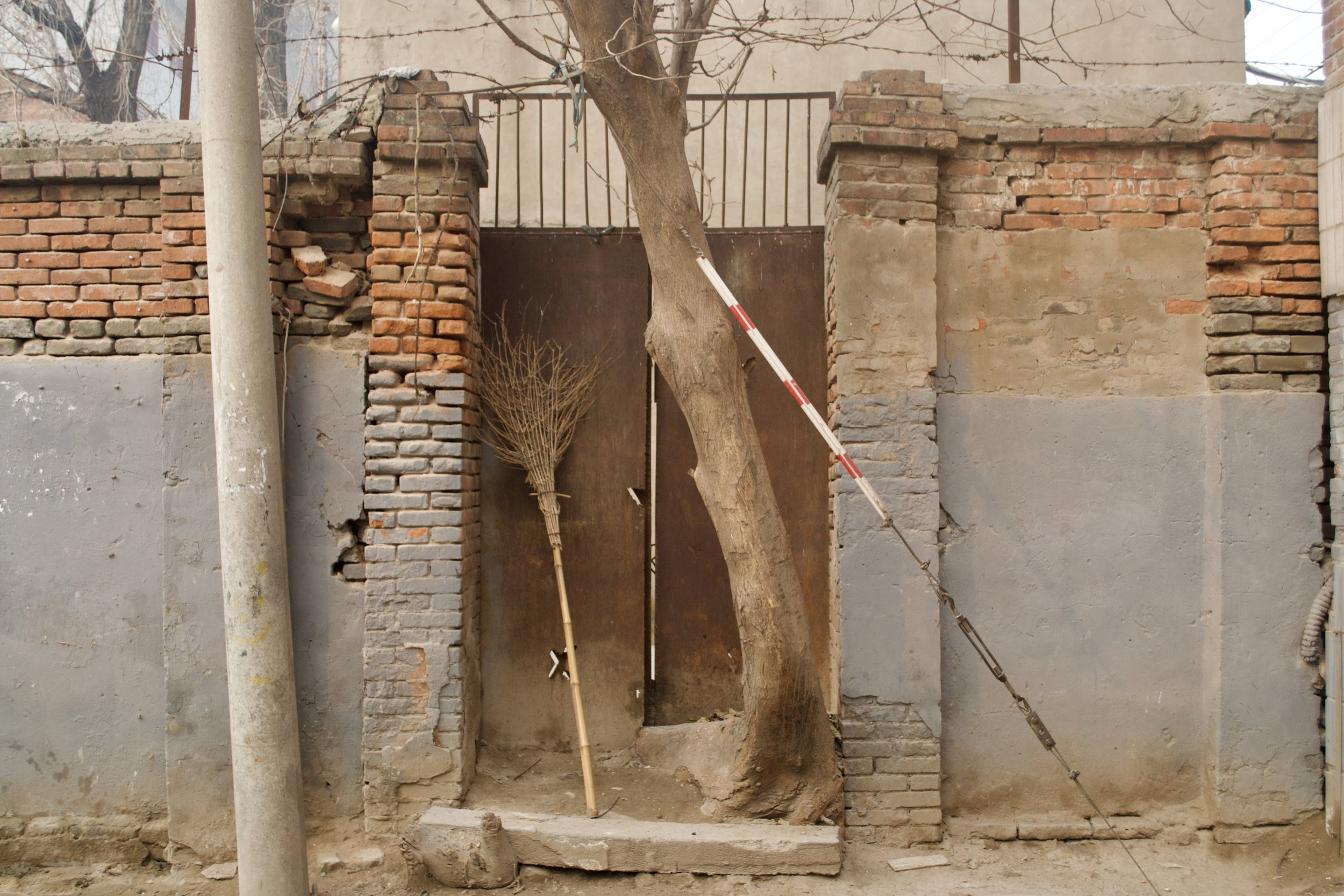Ten feet beneath this gate lies the main entrance to the Kaifeng synagogue.  [Nicholas Zhang Archives]