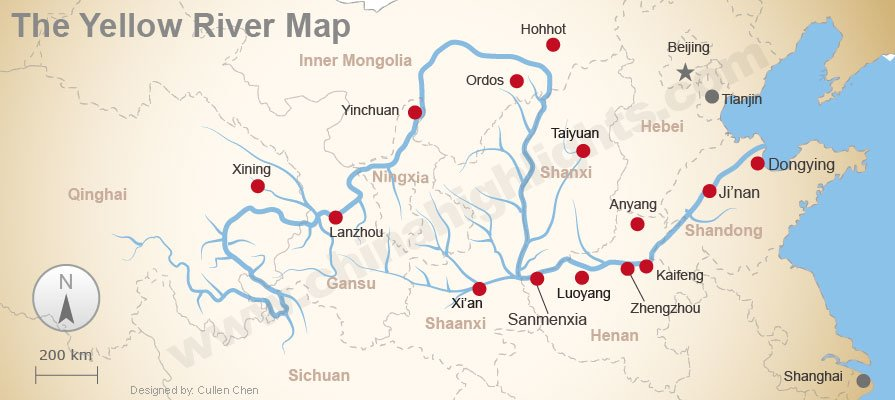 Chinese civilisation originated from the middle and lower basins of the Yellow River, then spread across China, into East Asia.  [chinahighlights.com]