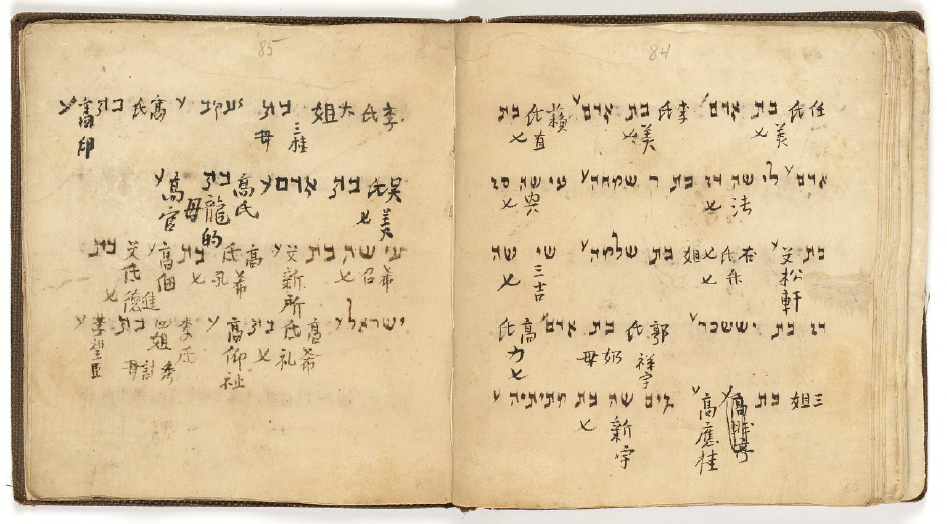 Ming dynasty Sabbath prayer book with women's names in Hebrew and Chinese. Collection from the Hebrew Union College in Cincinnati, Ohio.  [huc.edu]