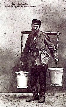 A water carrier on the Pale of Settlement.  [litwackfamily.com]
