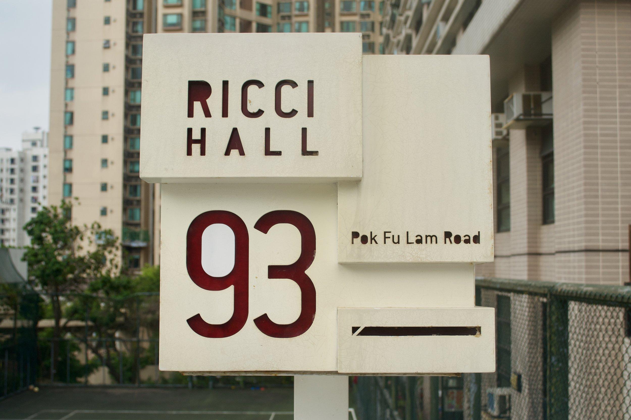 Ricci Hall at Hong Kong University. [Nicholas Zhang Archives]