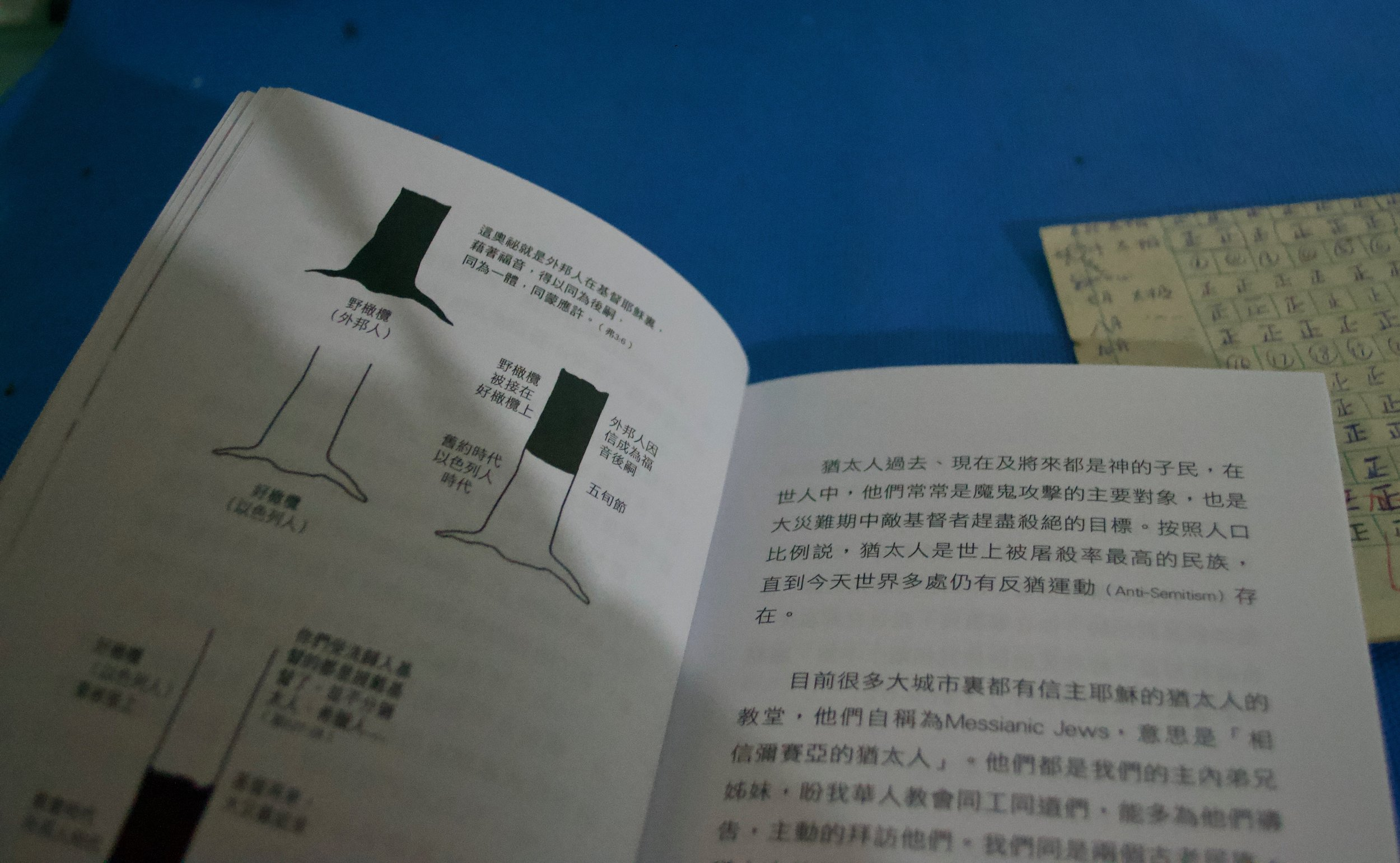 Booklet about people and history of Judaism in Chinese, treasured by modern day Kaifeng Jews.  [Nicholas Zhang Archives]
