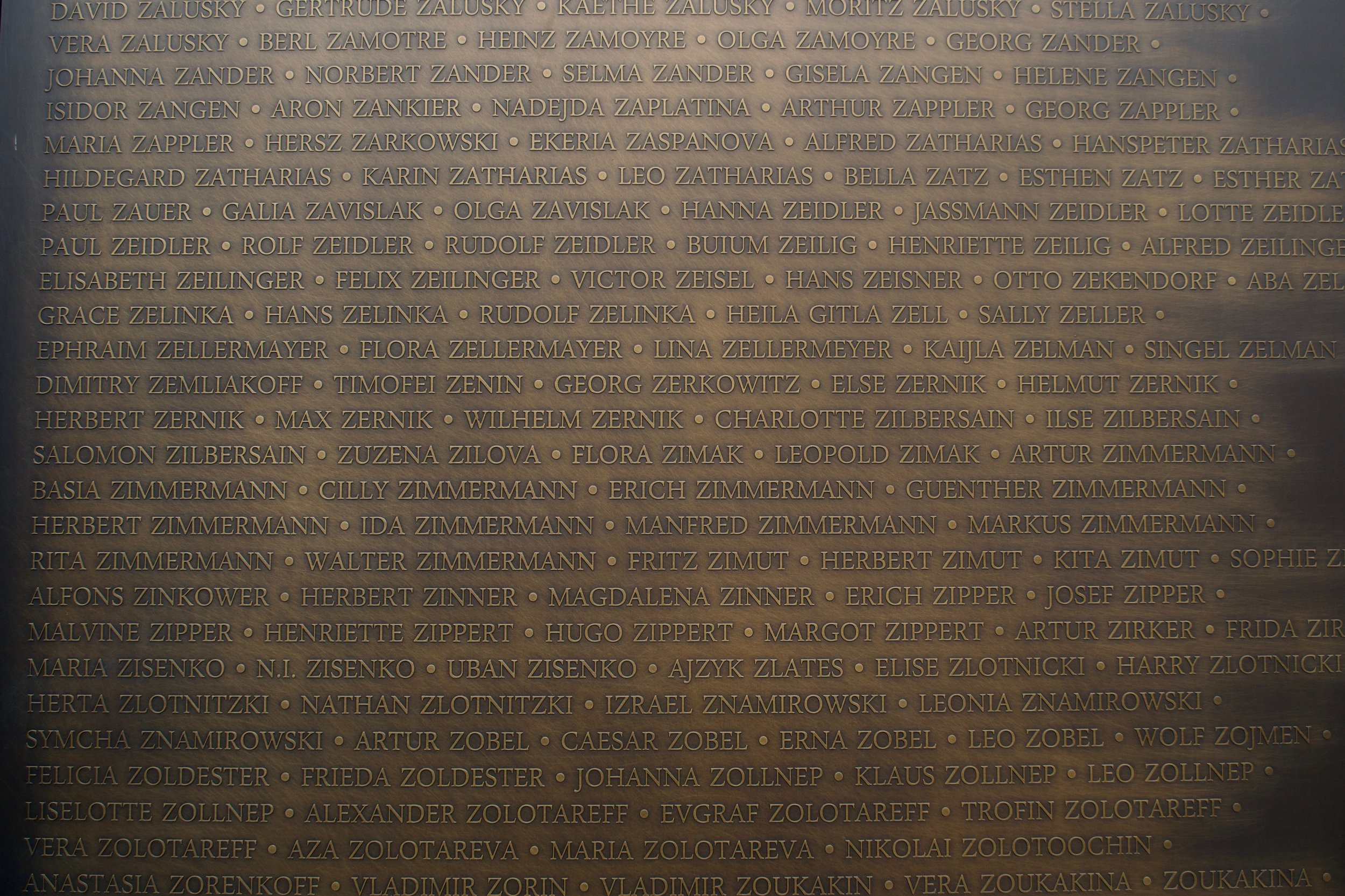 Names of the Jewish refugees in Shanghai. [Nicholas Zhang Archives]