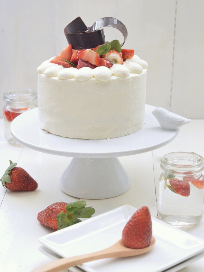 Japanese Strawberry Chiffon Cake