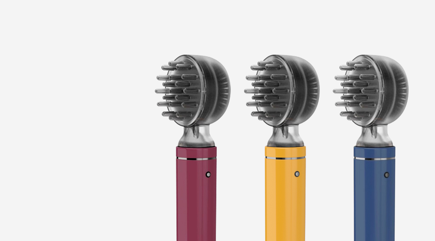 Light in hand - Nyuair hair dryer is engineered with the motorin the handle. Shifting its center of gravity to feel balancedin the hand.