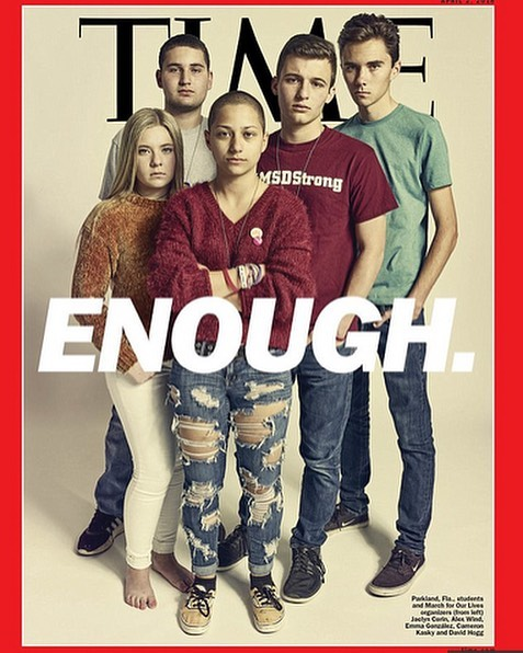 WE STAND IN SUPPORT ➡️ March for our Lives - rally for 6 minutes and 20 seconds - the duration of the Parkland shooting... ENOUGH ❌ #MarchForOurLives #emmagonzalez #NeverAgain #time @Emma4Change  #rockagainsttrafficking
