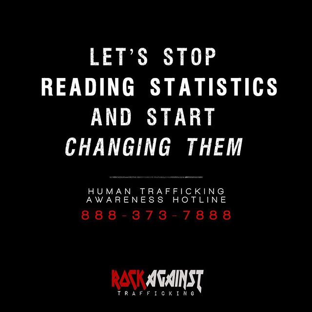 Thank you for all of your support thus far 🙏🏼 only together can we make an impact against these atrocities. RockAgainstTrafficking.org/donate