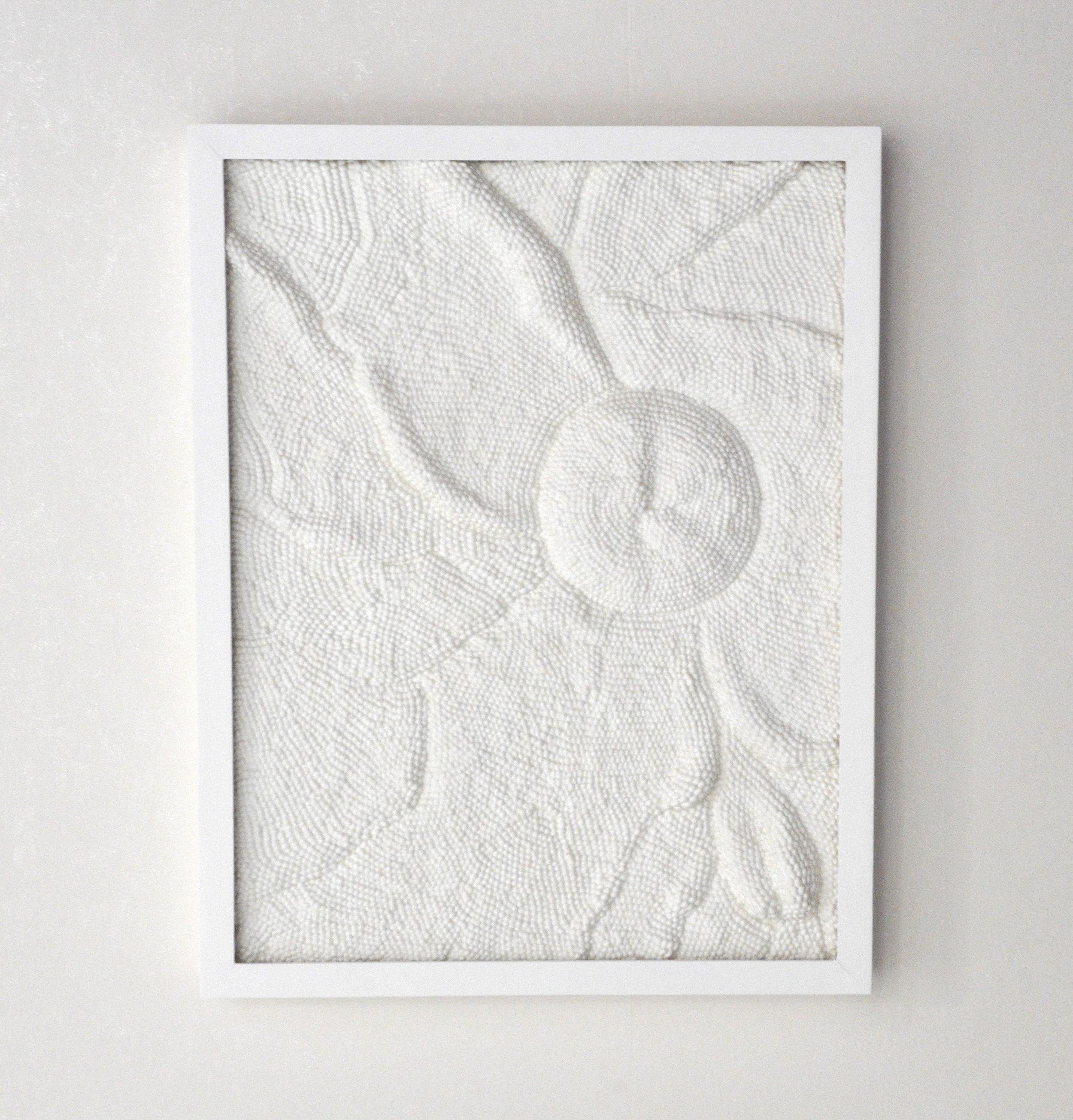 MicroMacro  , 2018   Fibre de coton et résine   70 cm x 55 cm x 6.5 cm