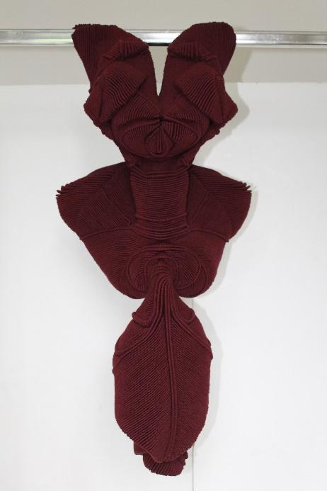 Xavier Brisoux     STHÉNASUNDA  , 2019  Coton, polyester  103 cm x 44 cm