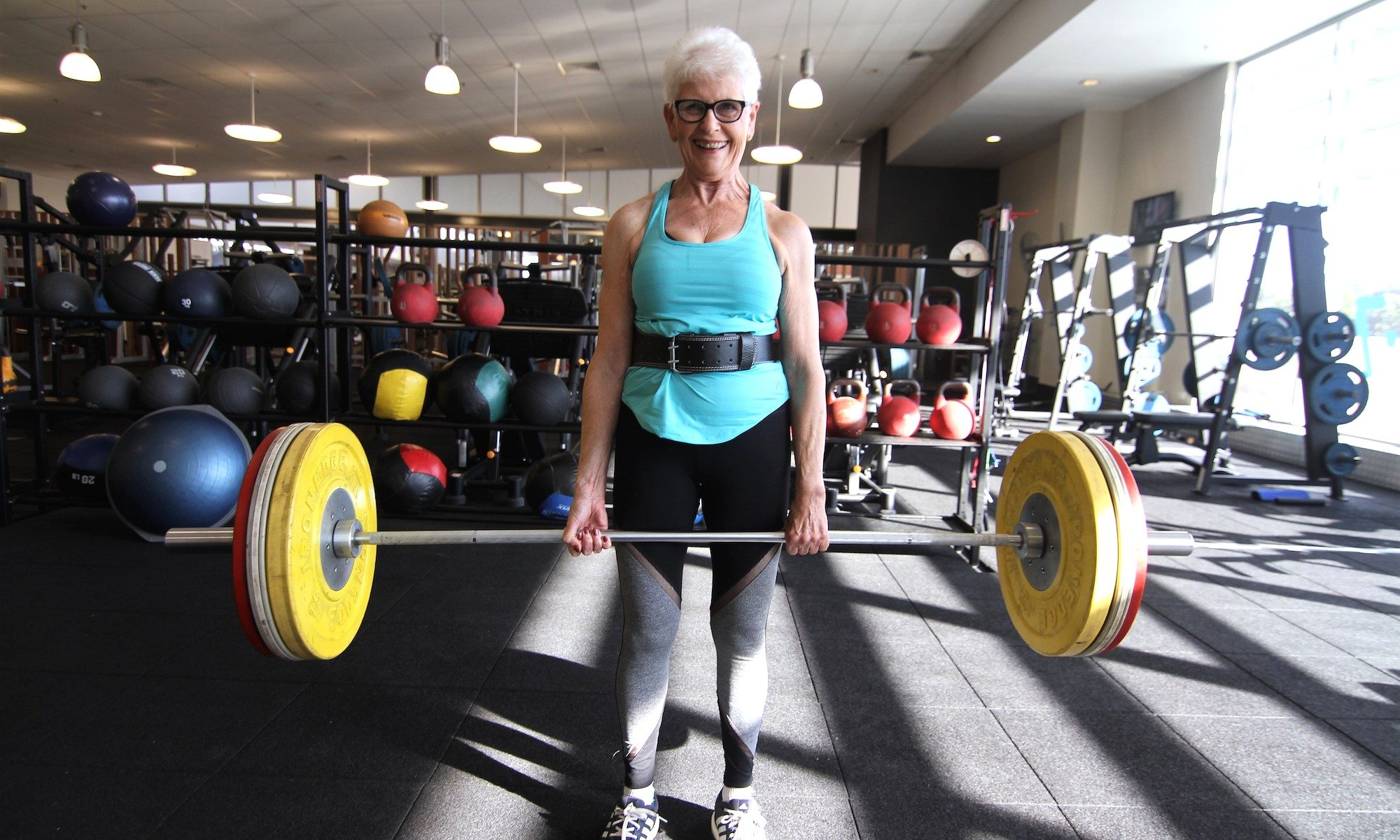 Marion Keane - A former nun turned weightlifter, at age 77 Marion won her category of Powerlifting Australia's national competition. From caring for her late husband who suffered Parkinson's Disease for twenty years, Marion joined a local health club to deal with the stress of being her husband's principal carer, and went on to become a powerlifting champion.