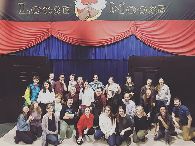 Played my last show @loosemooser ❤️ I fucking love these people! #loosemoose #improv #theatre #keithjohnstone #bestcrew #besttime #love #happiness #calgary #canada #stage #goodpeople #adventure #goodbye
