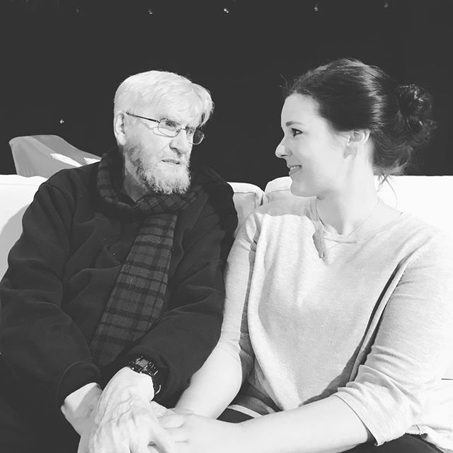 Clearly totally fell in love with the one and only Keith Johnstone! So greatful for eight days of learning, not only about Impro - but also about life! #greatful #impro #improvisation #life #keithjohnstone #berlin #masterclass #workshop #learningaboutlife #thankful #improv #actress #actorslife #acting #improtheater #berlinstagram #blackandwhite #change #bechanged
