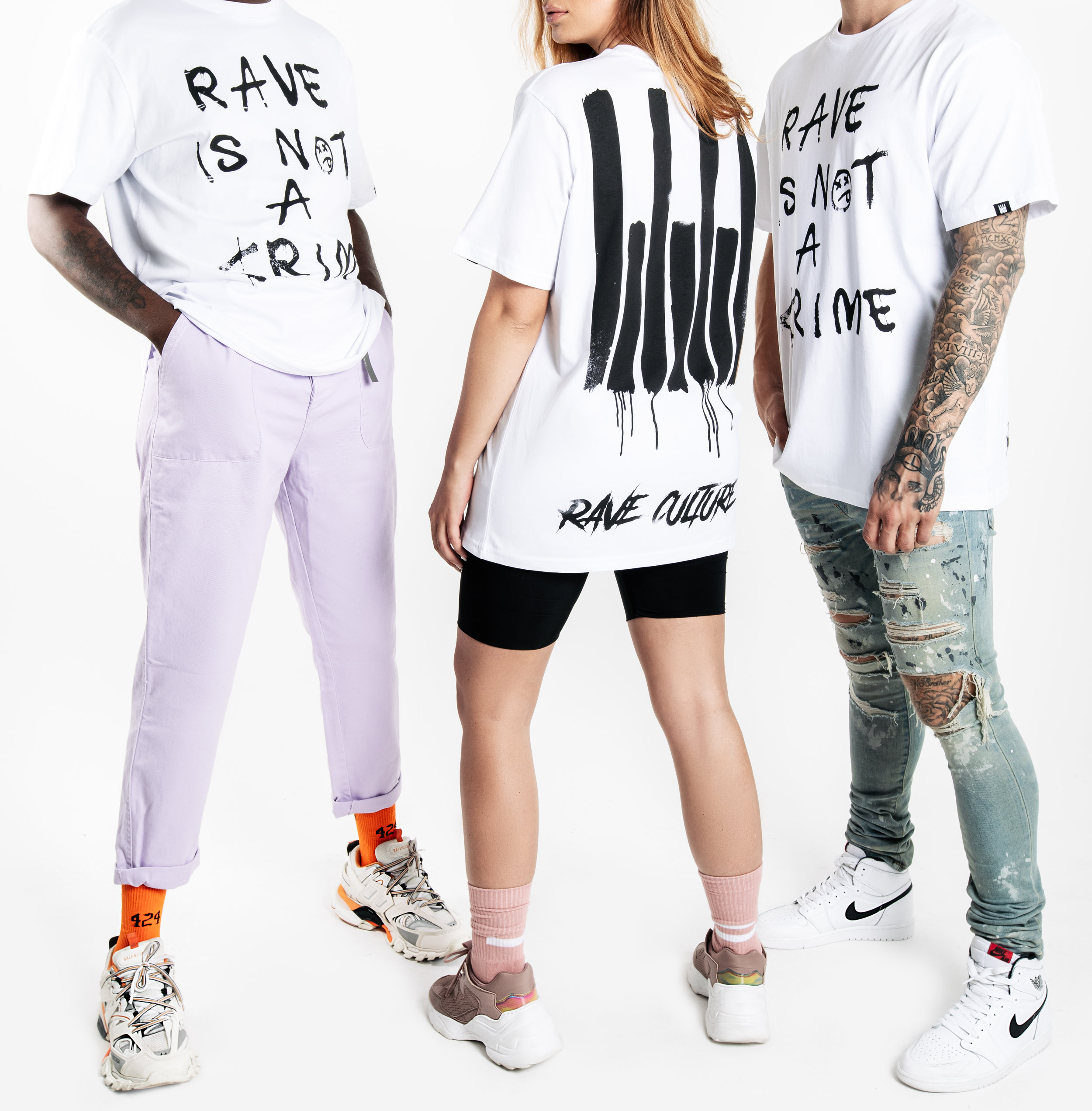 Rave Culture Rave Is Not A Crime T-Shirt Group Photo
