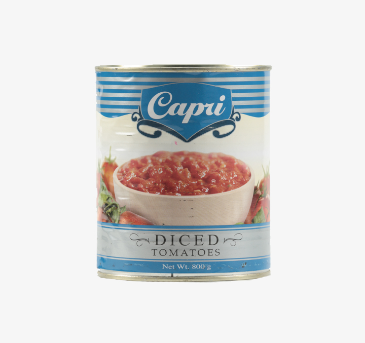 Diced Tomatoes - Size Availability: 400g, 800g, 2550g