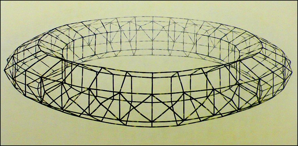 HOMMAGE AAN PAOLO UCCELLO  1994 150x300 cm  voor Maria van Kesteren
