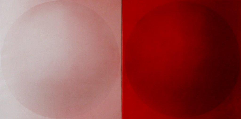 SHIFTING DICHOTOMY   MF CII  2011 - 2014 diptych (2x) 80x80 cm
