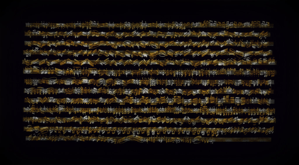 CIACCONA HOMMAGE AAN J.S. BACH  1998 100x180 cm