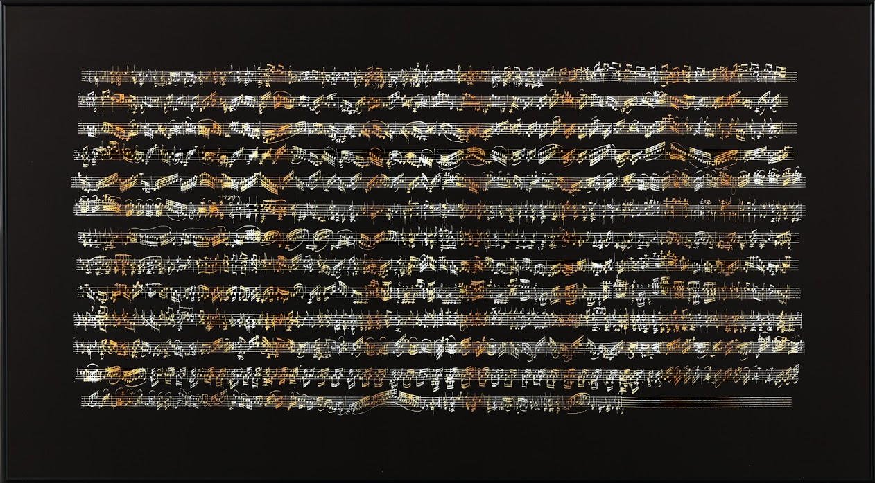 CIACONNA HOMMAGE AAN J.S. BACH  1998 100x180 cm