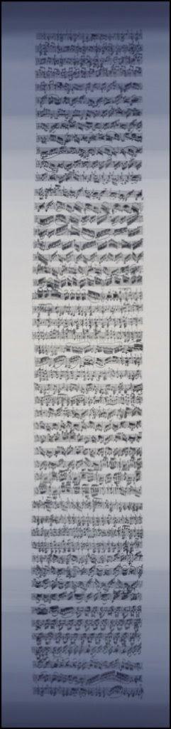 1999  acrylic paint and silkprint on panel 31x131 cm
