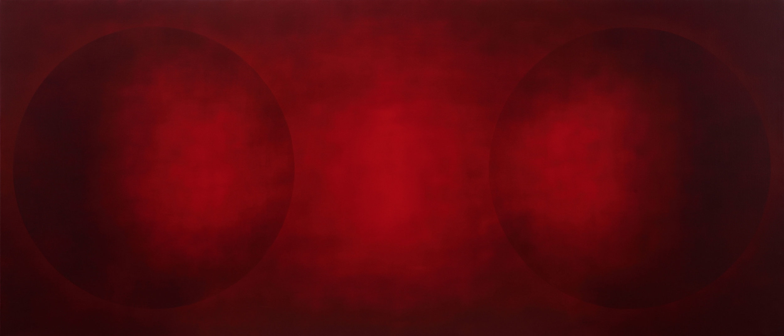 INTERVAL MF CV 2011-2013  acrylic on canvas 130x300 cm  private collection
