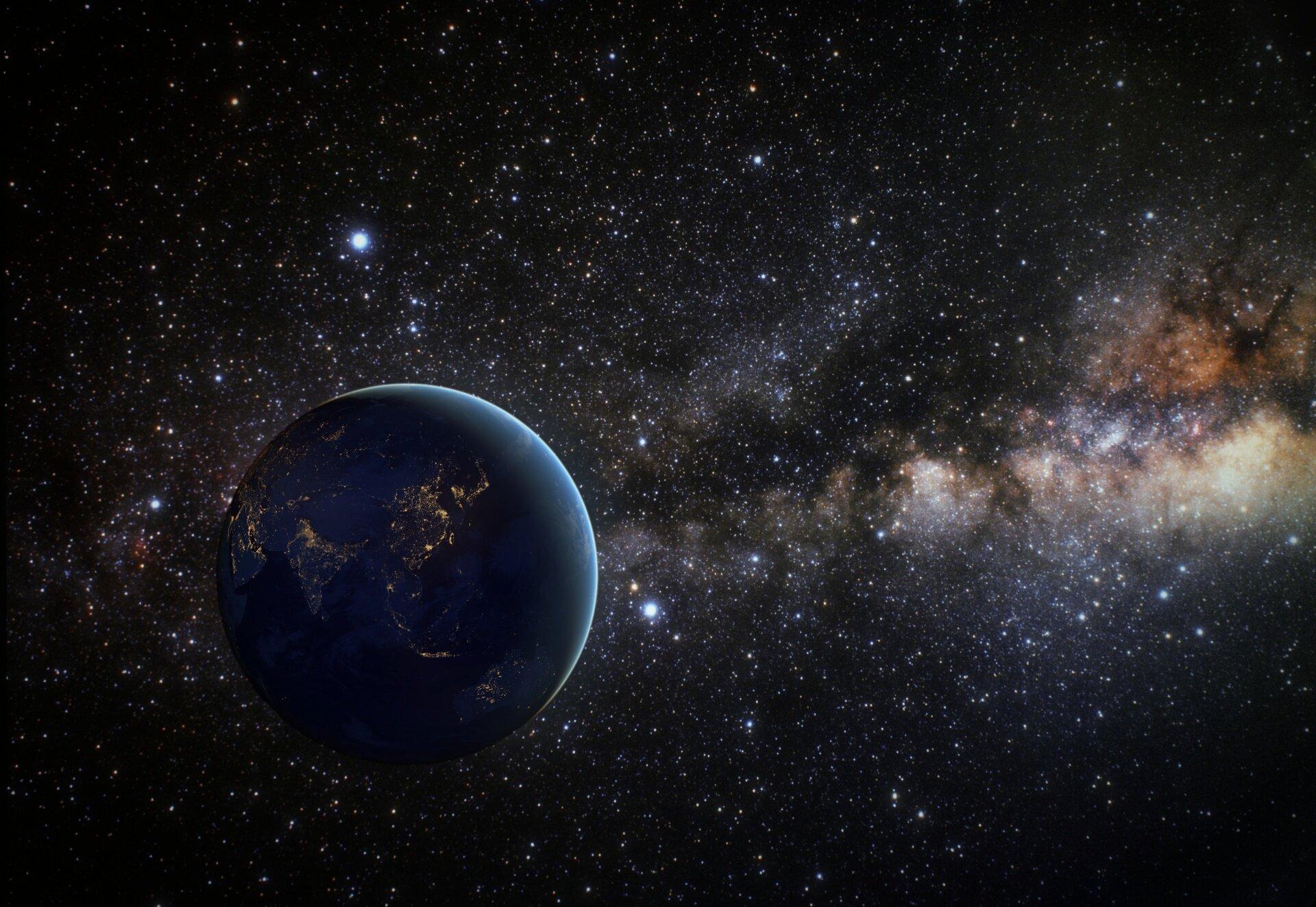 космический корабль парение путем пространства