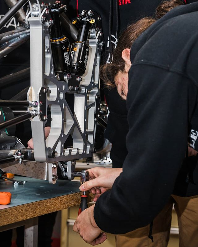 Getting to the tail end of things, both figuratively and literally. 📷 @callumgibbens  #formulasae #formulasaeaustralasia #formulastudent #fsae #motorsport #engineering #design #manufacturing #assembly #rmit #rmituniversity