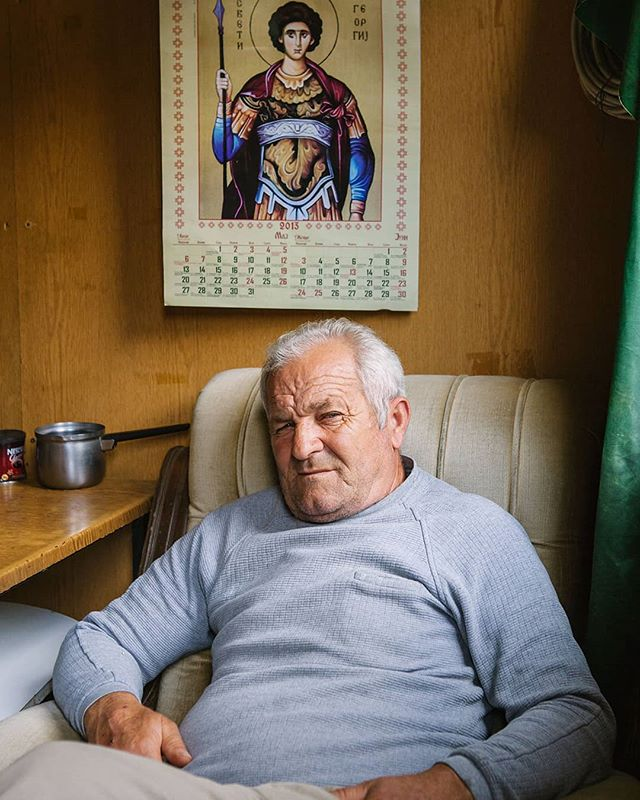 Portrait of Skopje's Millenium Cross guard. Skopje, the capital of Macedonia FYROM, was the birthplace of Mother Teresa. A memorial worth of two millions euros was built for her in 2009.  Taken by @mfimages during his travel in ex-Yugoslavia Balkans states back in 2013. #balkans #portrait #arkaproject