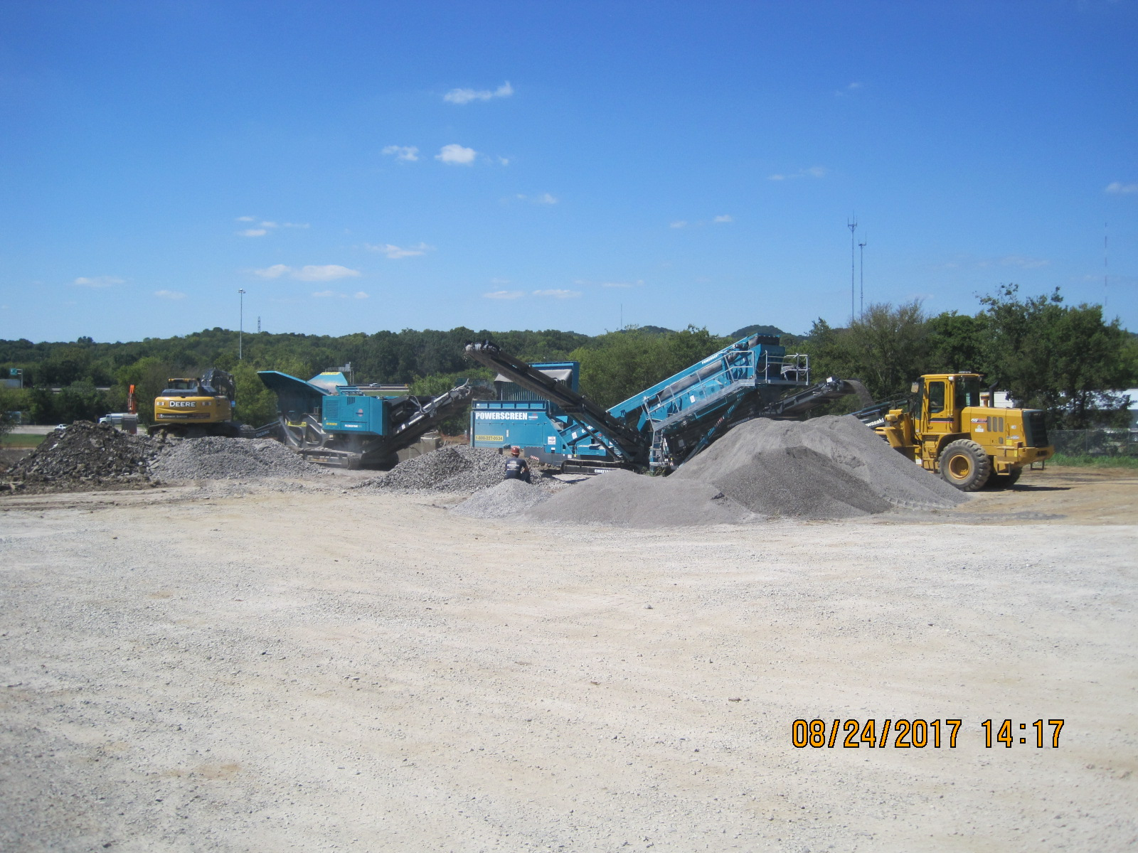 Excavating and Running Rock Crushers