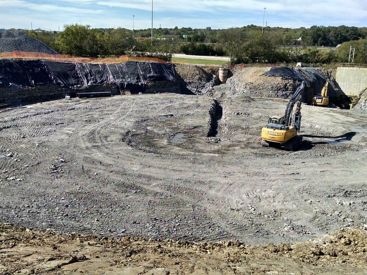 Excavation For Tank