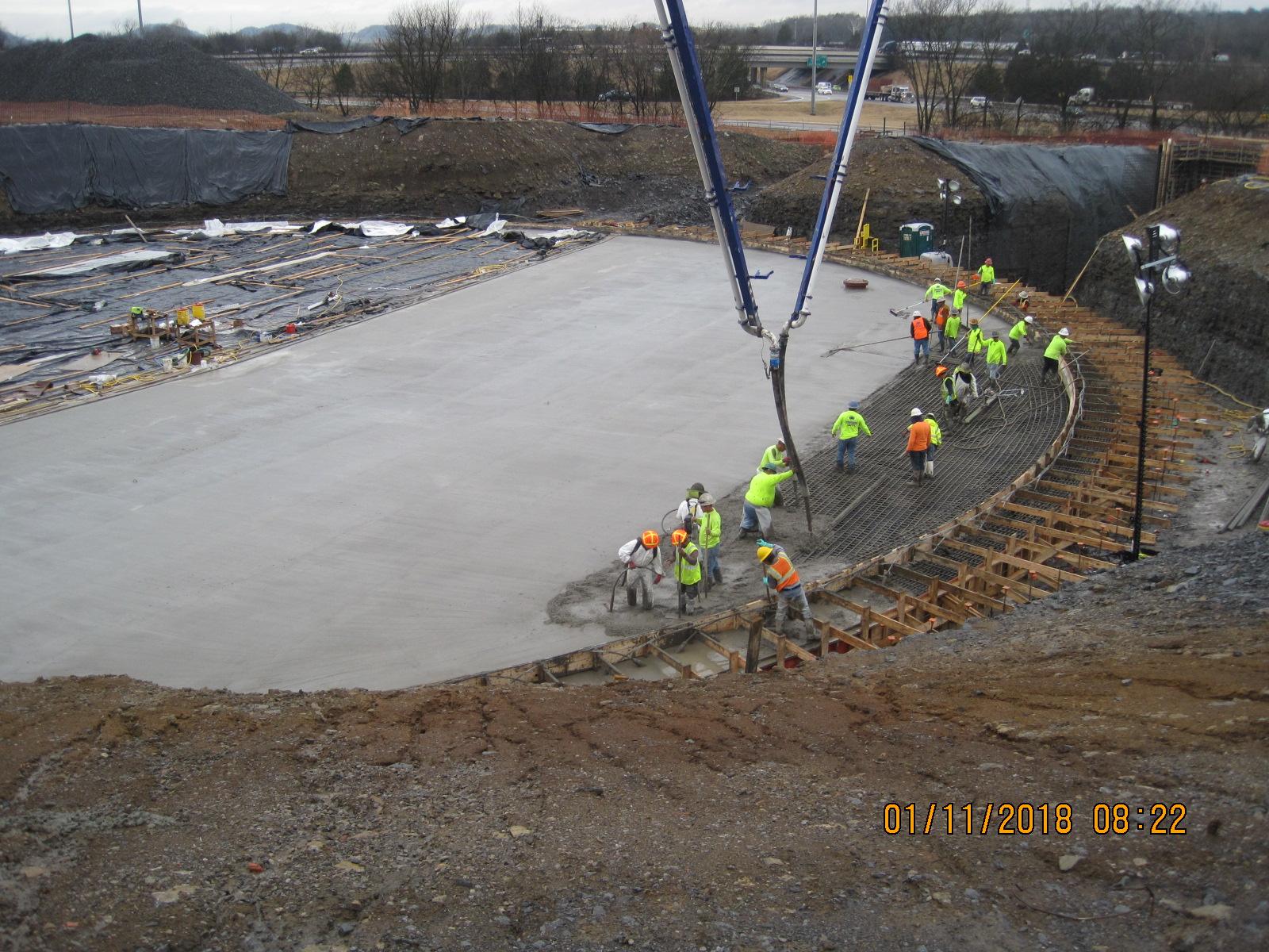 Tank Floor Concrete Pour