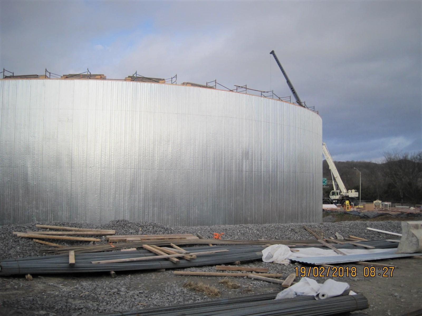 EQ Tank Walls Ready for Shotcrete